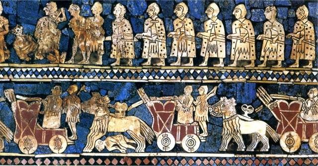 Фрагмент королевского штандарта из Ура. ~ 2500 г. до н.э.
