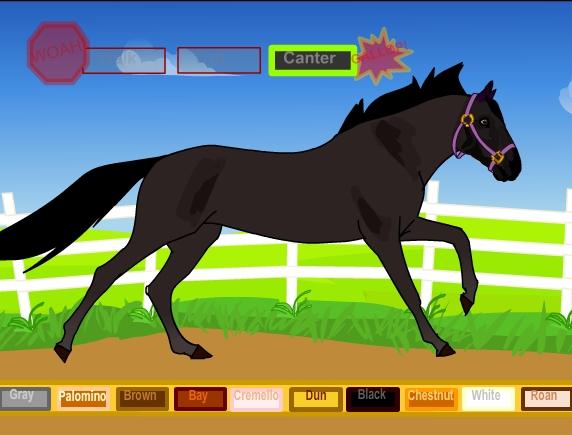 На прогулке онлайн игра про лошадей