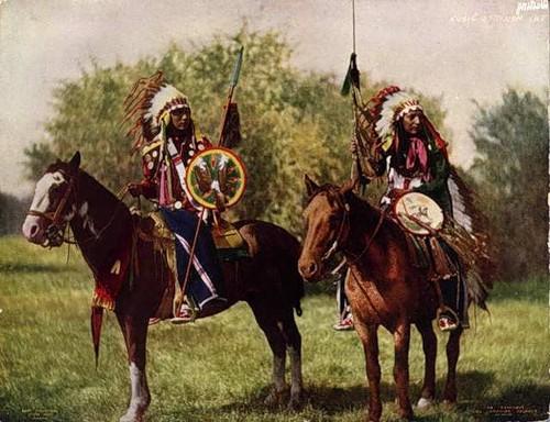 Фото индейцев верхом на лошадях