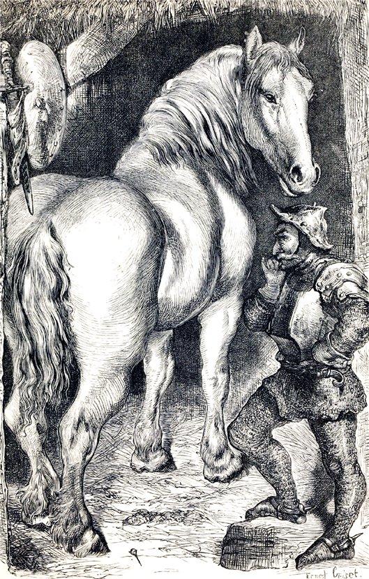 Рисунок рыцаря одного