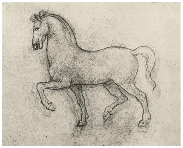 Рисунок статуи лошади
