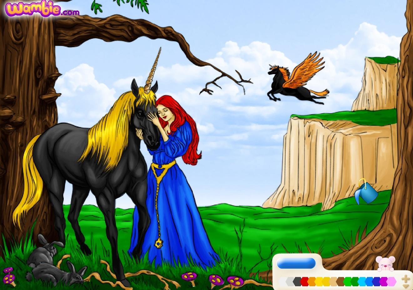 Раскраска Принцесса расчесывает волосы | Раскраски Каталог раскрасок. | 927x1321