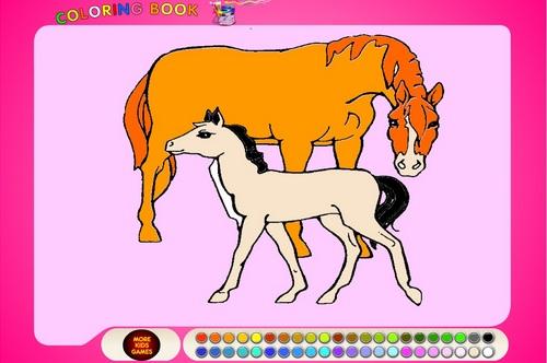 играть i раскраска лошадей