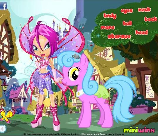 И пони онлайн игра про лошадей винкс и